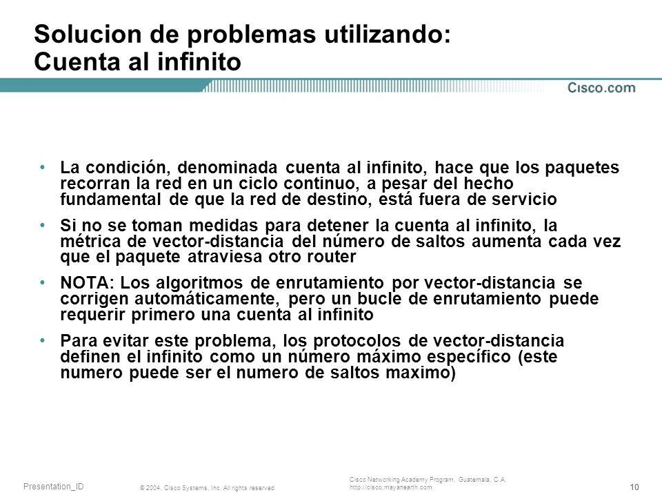 Solucion de problemas utilizando: Cuenta al infinito