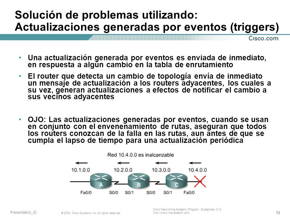Solución de problemas utilizando: Actualizaciones generadas por eventos (triggers)