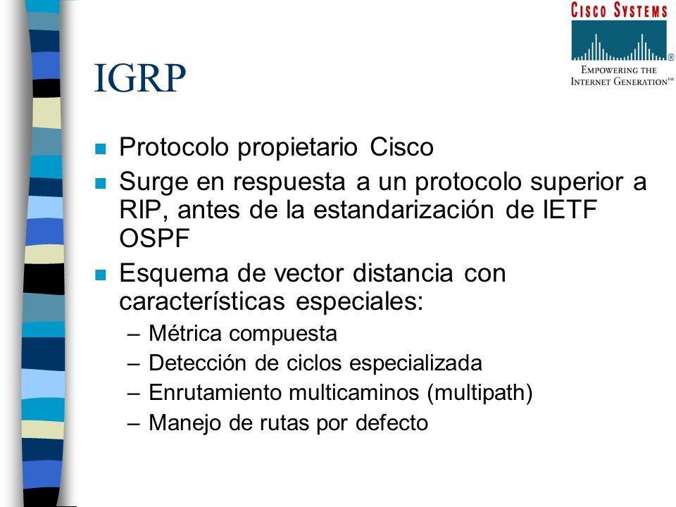 IGRP Protocolo propietario Cisco