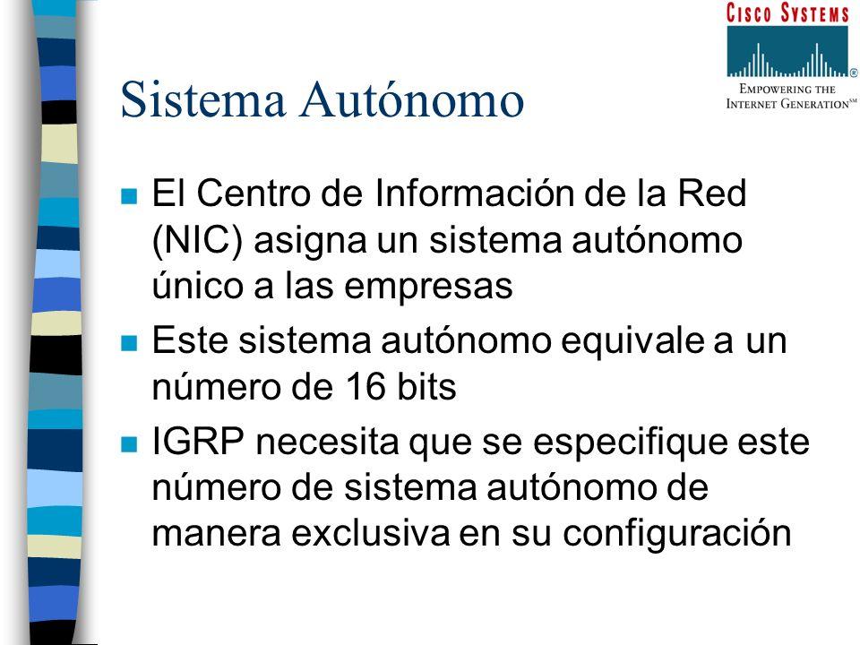 Sistema Autónomo El Centro de Información de la Red (NIC) asigna un sistema autónomo único a las empresas.