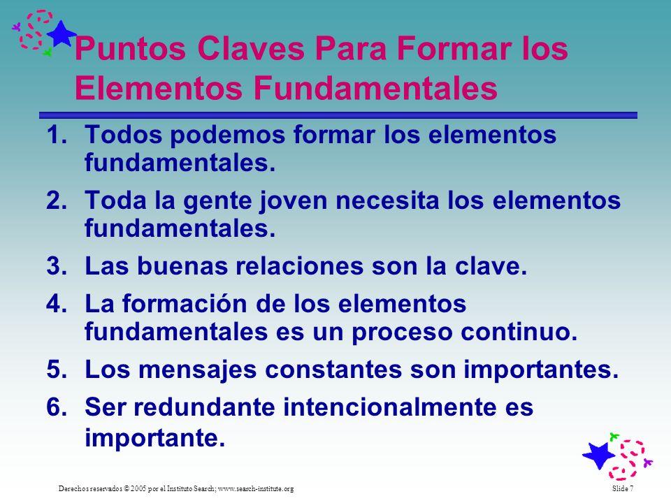 Puntos Claves Para Formar los Elementos Fundamentales