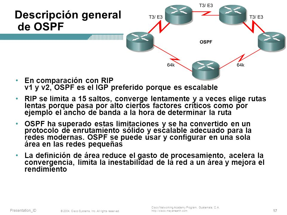 Descripción general de OSPF