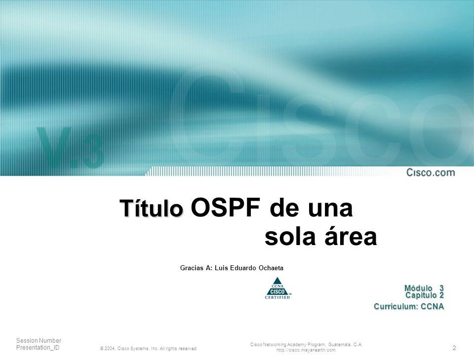 Título OSPF de una sola área