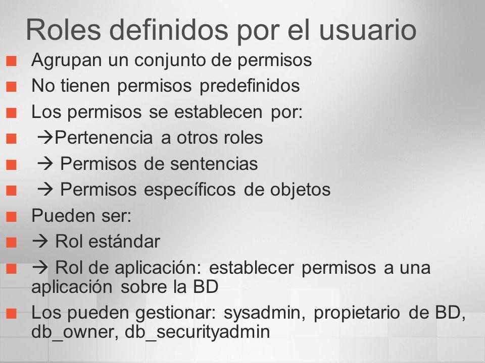 Roles definidos por el usuario