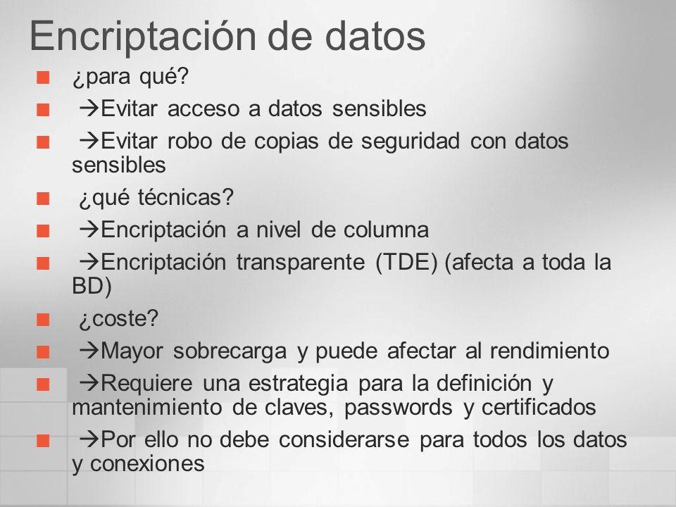 Encriptación de datos ¿para qué Evitar acceso a datos sensibles