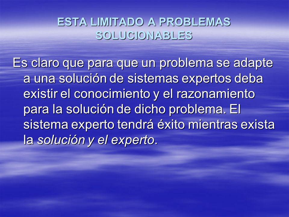 ESTA LIMITADO A PROBLEMAS SOLUCIONABLES