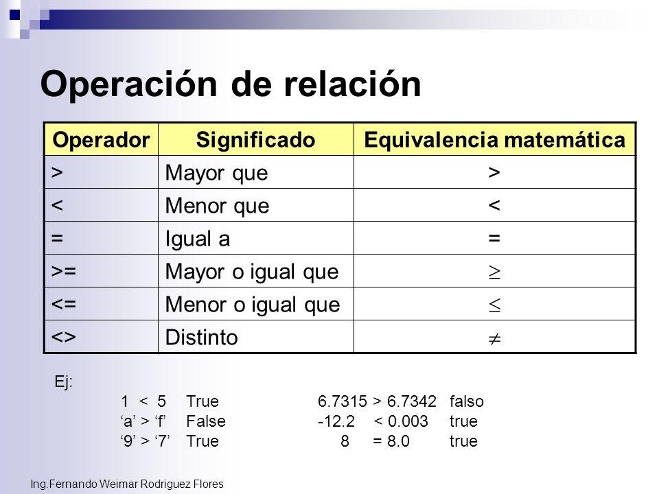 Equivalencia matemática