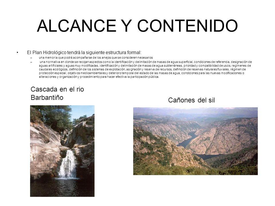 ALCANCE Y CONTENIDO Cascada en el rio Barbantiño Cañones del sil