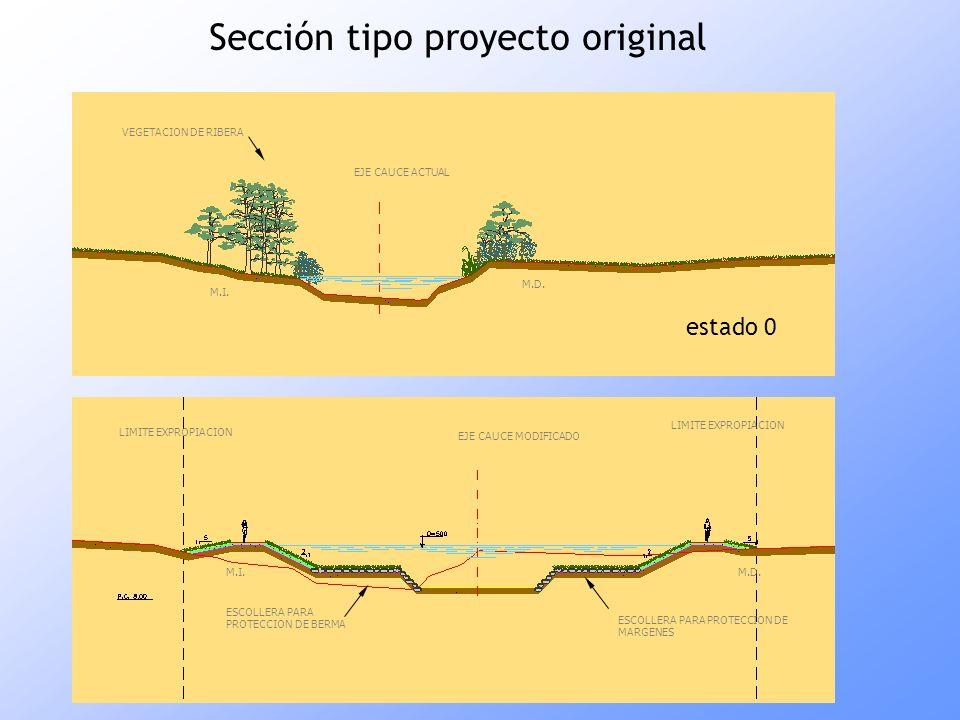 Sección tipo proyecto original