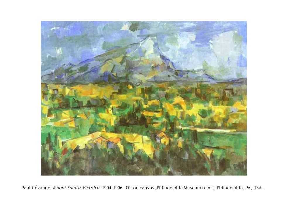 Paul Cézanne. Mount Sainte-Victoire. 1904-1906
