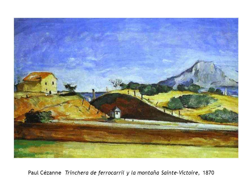 Paul Cézanne Trinchera de ferrocarril y la montaña Sainte-Victoire, 1870