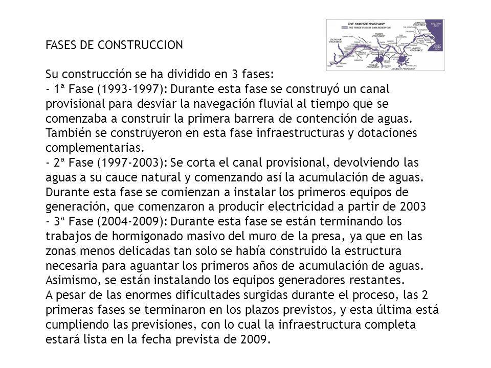 FASES DE CONSTRUCCION Su construcción se ha dividido en 3 fases: