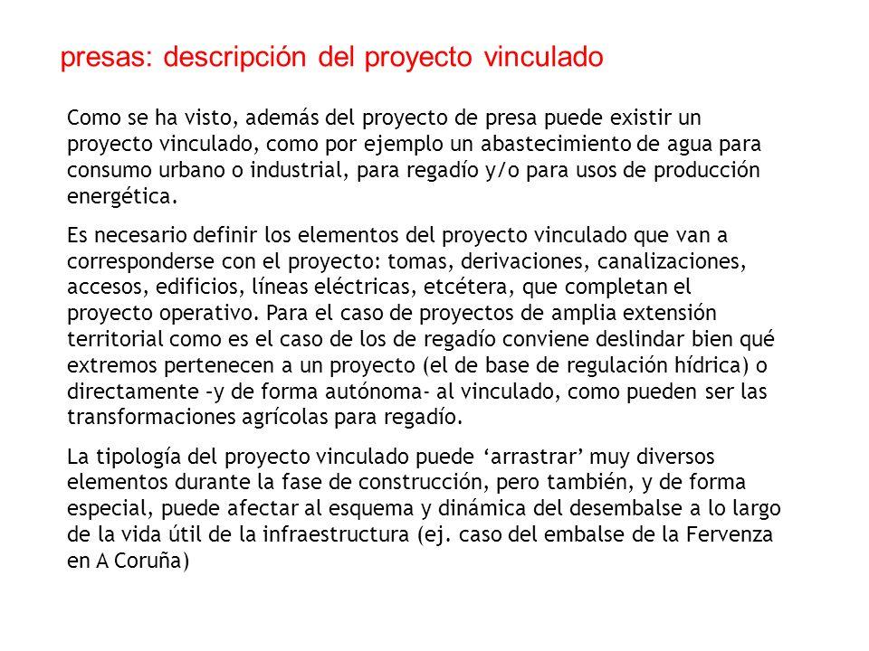 presas: descripción del proyecto vinculado