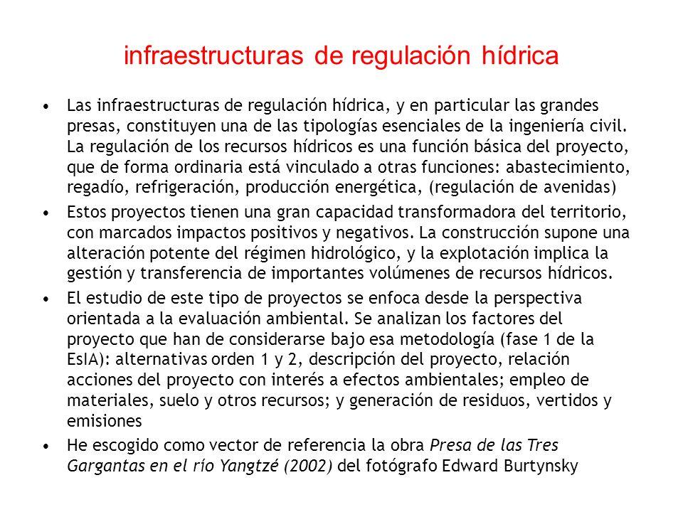 infraestructuras de regulación hídrica