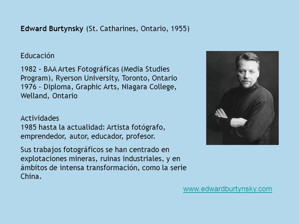Edward Burtynsky (St. Catharines, Ontario, 1955)