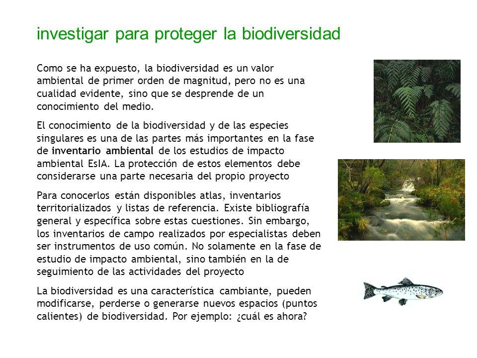 investigar para proteger la biodiversidad