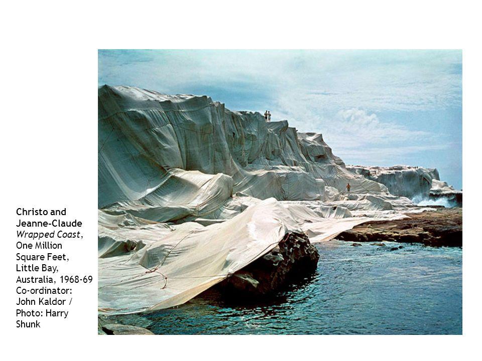 Christo and Jeanne-Claude Wrapped Coast, One Million Square Feet, Little Bay, Australia, 1968-69 Co-ordinator: John Kaldor / Photo: Harry Shunk