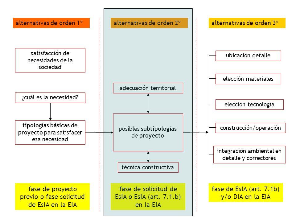 fase de proyecto previo o fase solicitud de EsIA en la EIA