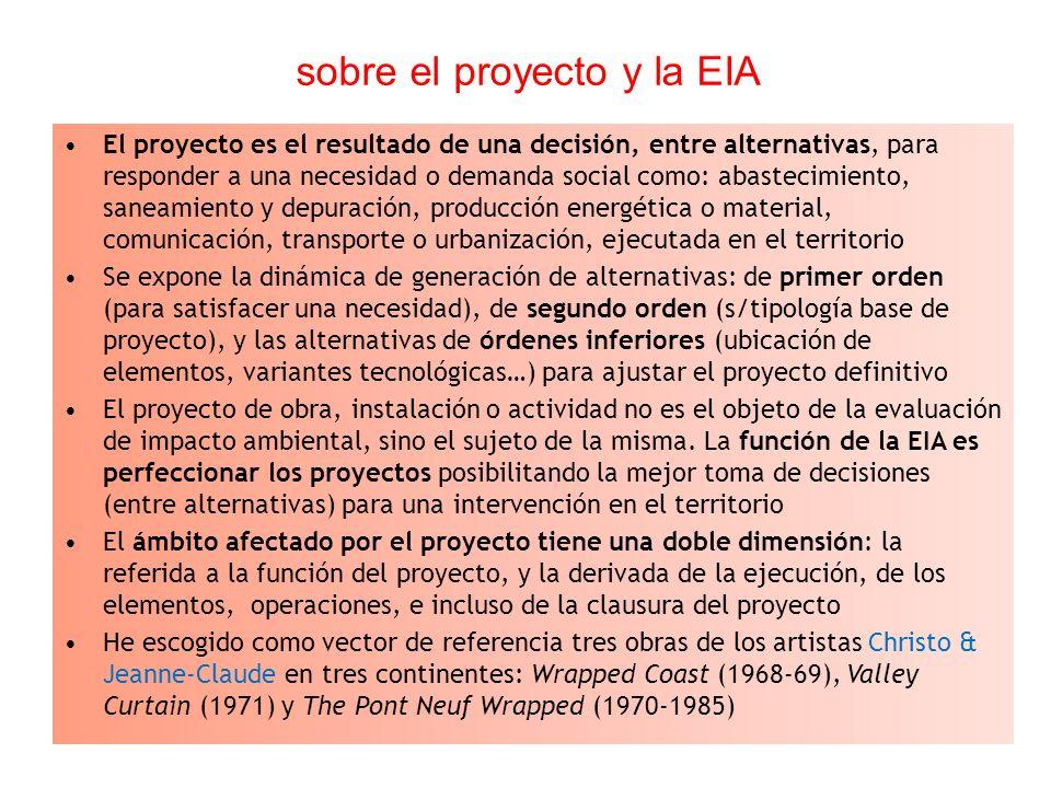 sobre el proyecto y la EIA