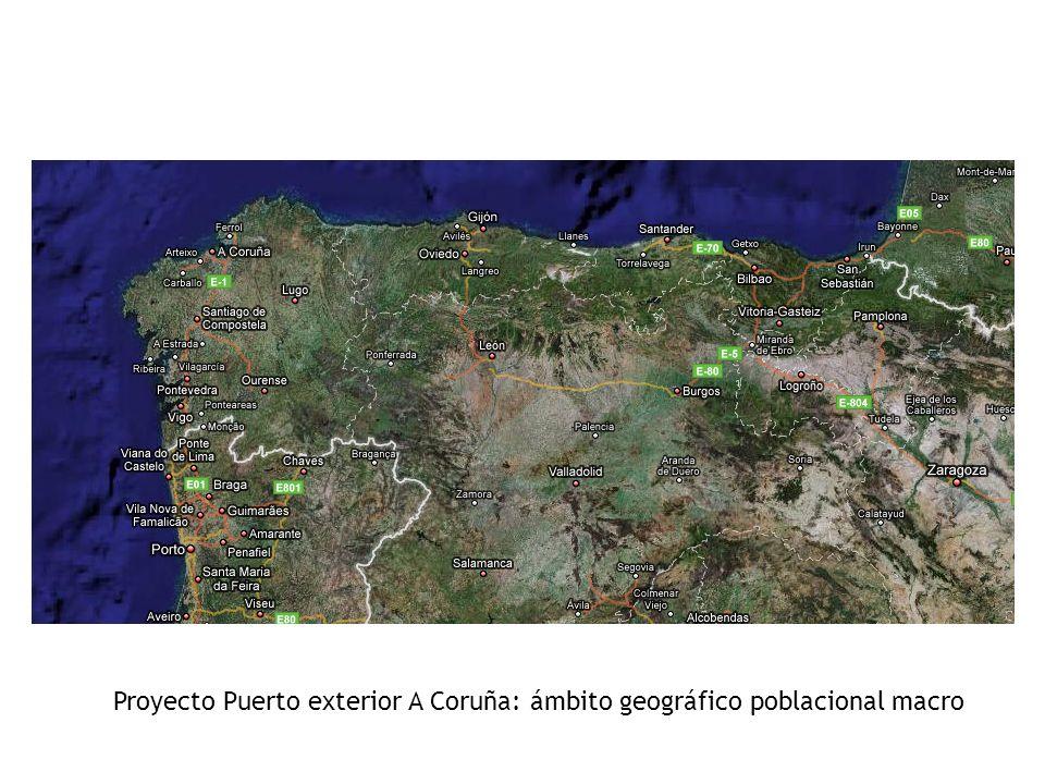 Proyecto Puerto exterior A Coruña: ámbito geográfico poblacional macro