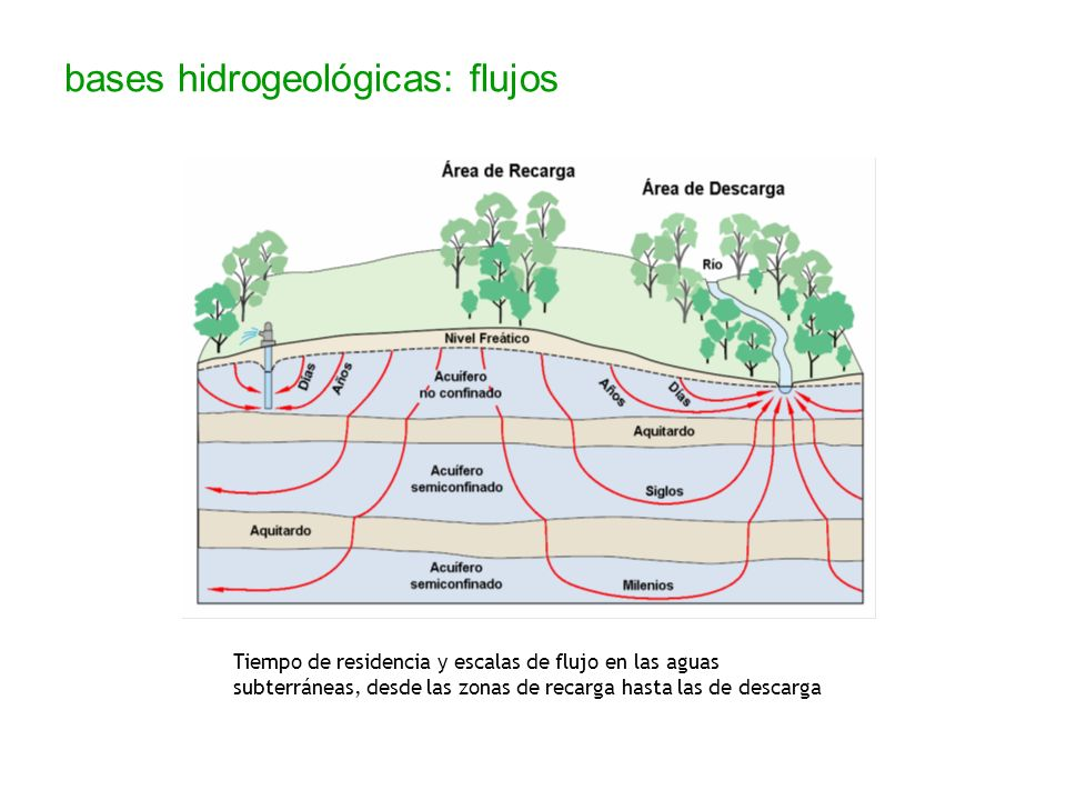 bases hidrogeológicas: flujos