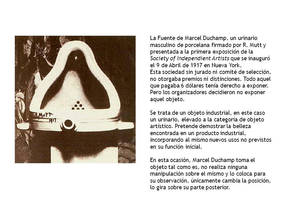 La Fuente de Marcel Duchamp, un urinario masculino de porcelana firmado por R.