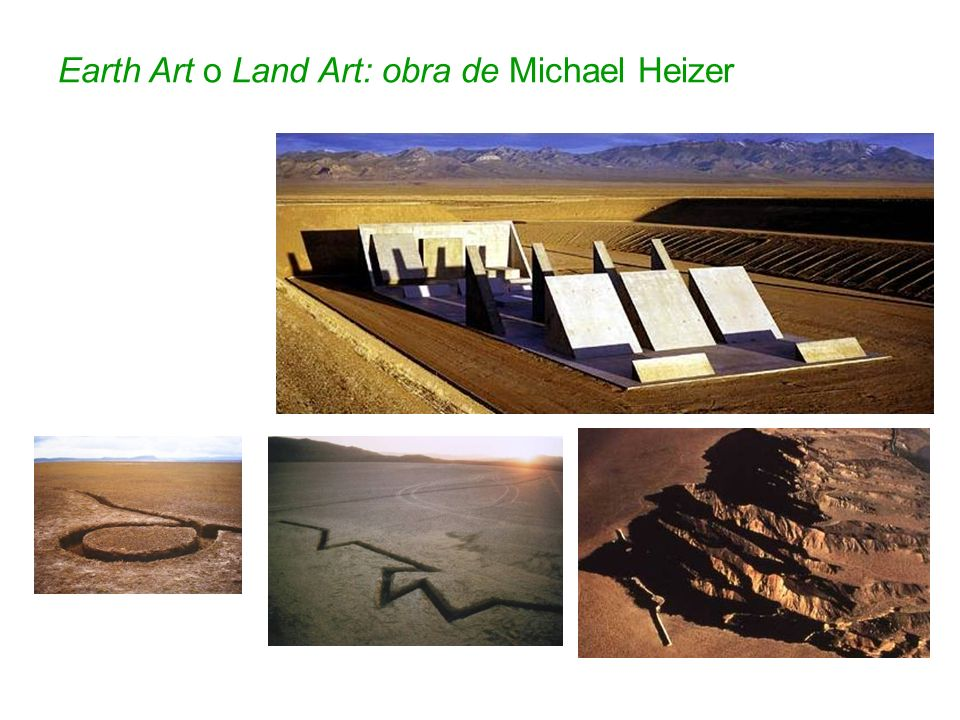Earth Art o Land Art: obra de Michael Heizer