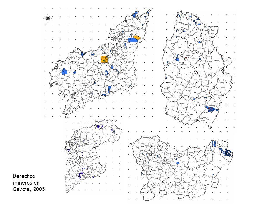 Derechos mineros en Galicia, 2005