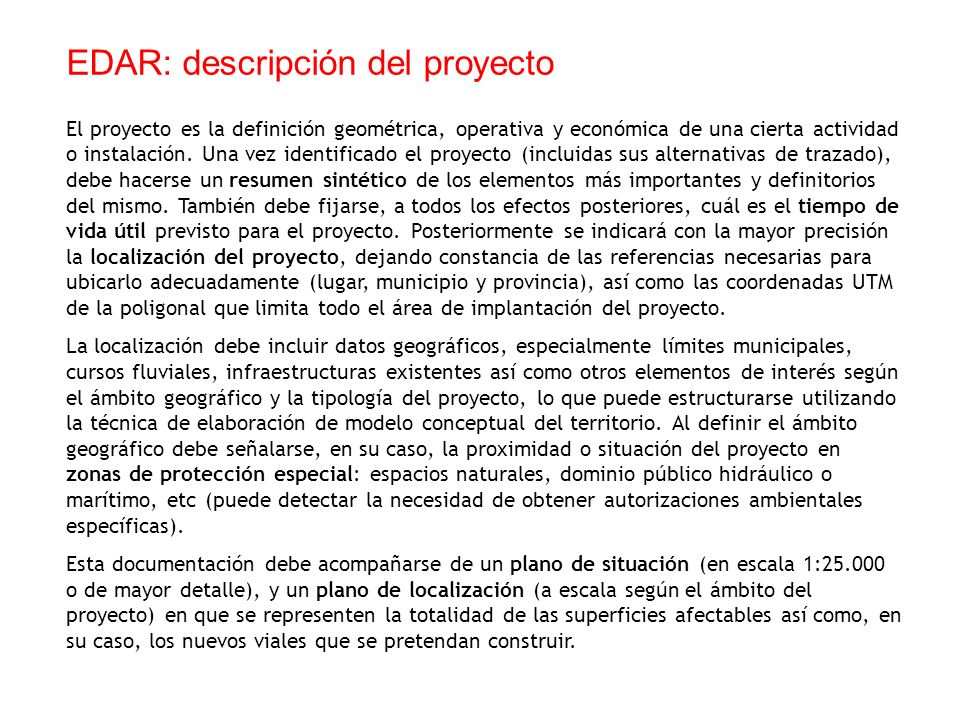 EDAR: descripción del proyecto