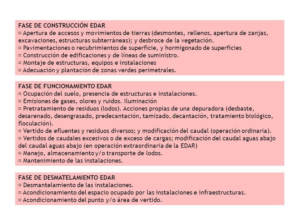 FASE DE CONSTRUCCIÓN EDAR