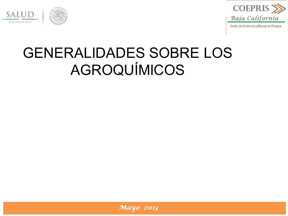 GENERALIDADES SOBRE LOS AGROQUÍMICOS