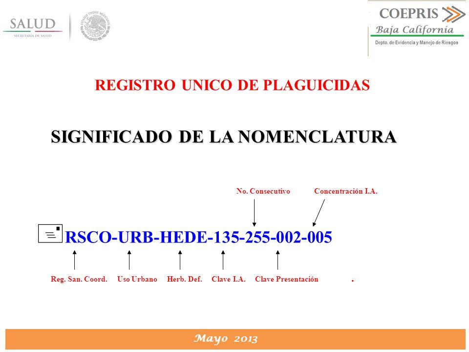 REGISTRO UNICO DE PLAGUICIDAS