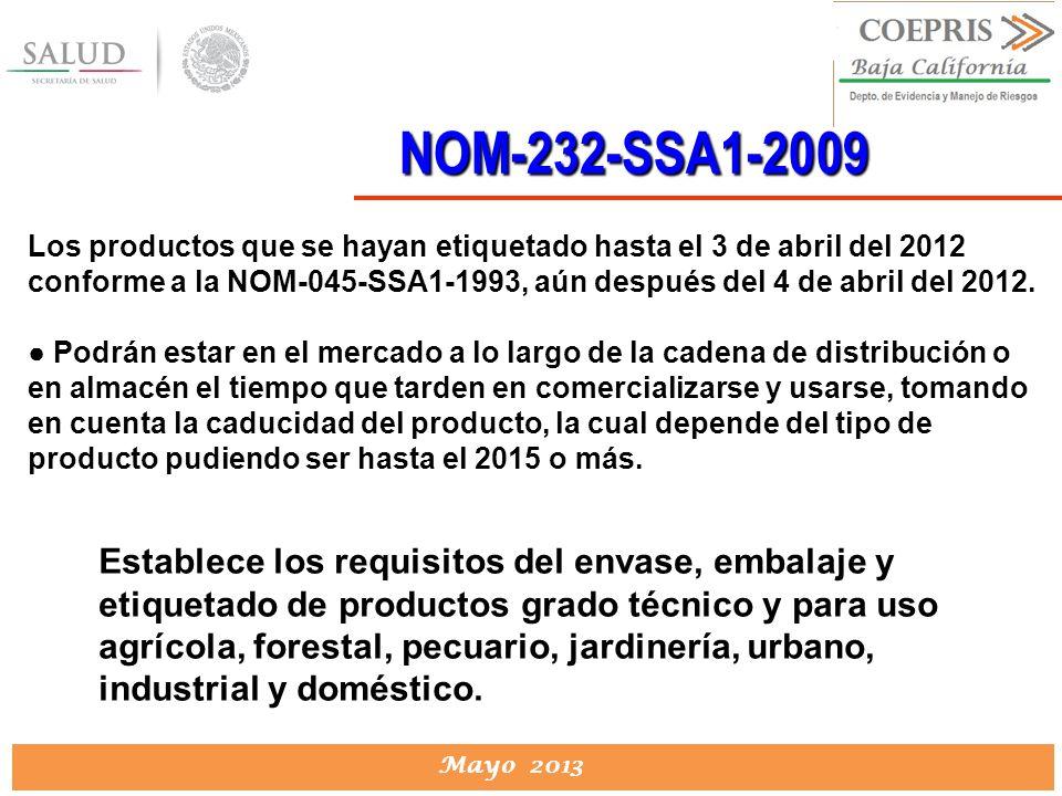 NOM-232-SSA1-2009