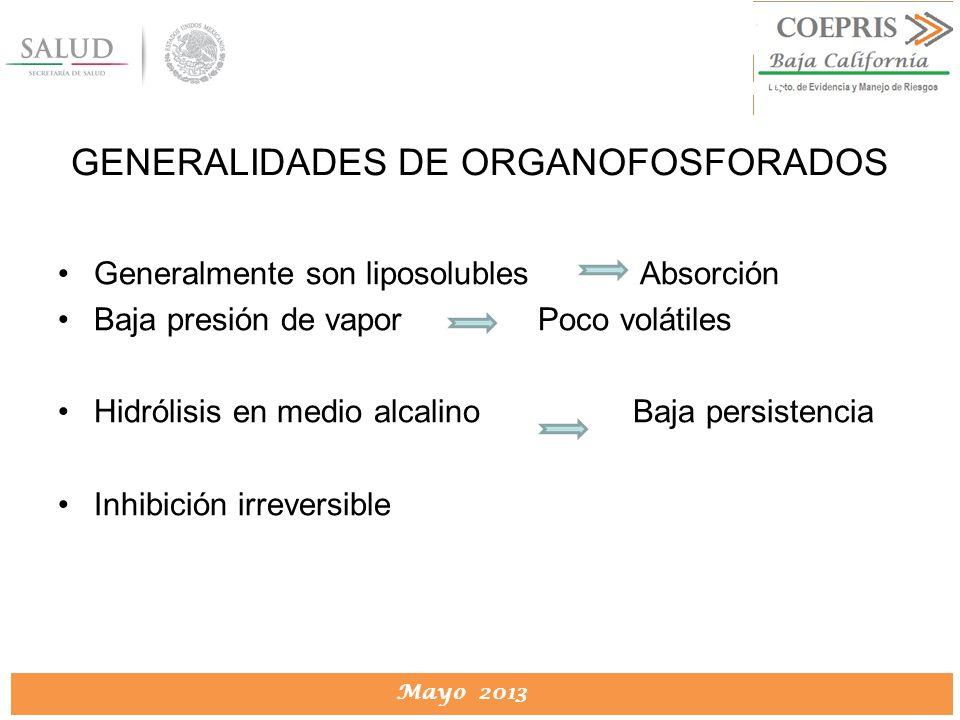 GENERALIDADES DE ORGANOFOSFORADOS