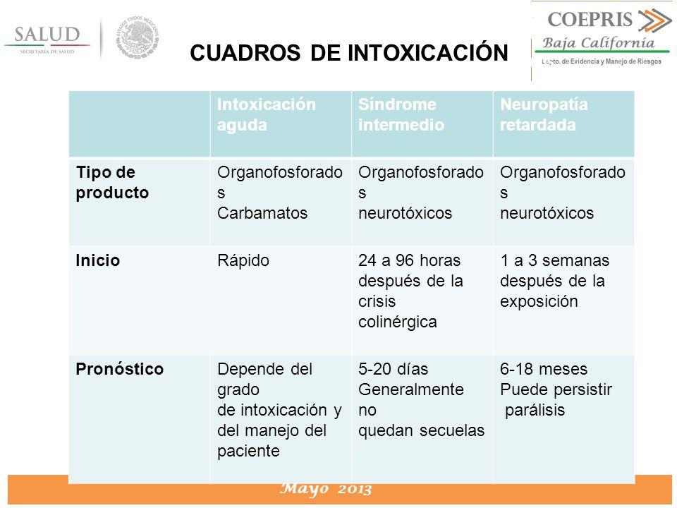 CUADROS DE INTOXICACIÓN