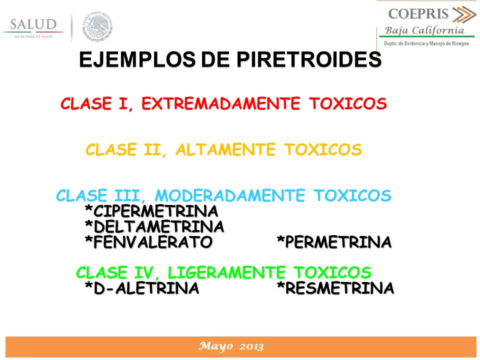 EJEMPLOS DE PIRETROIDES