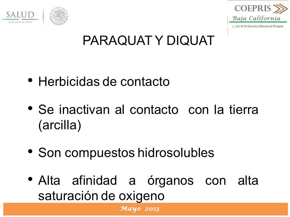 Herbicidas de contacto