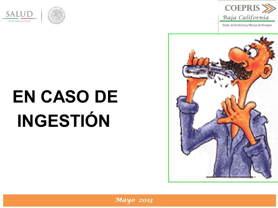 EN CASO DE INGESTIÓN