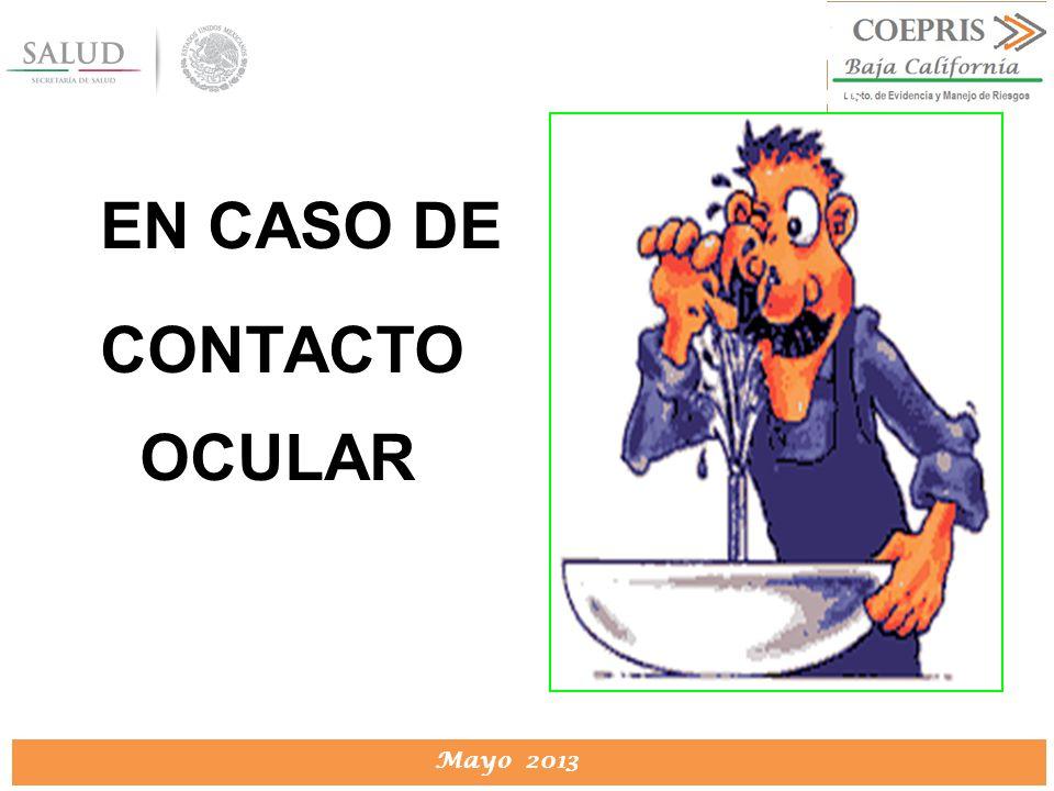 EN CASO DE CONTACTO OCULAR
