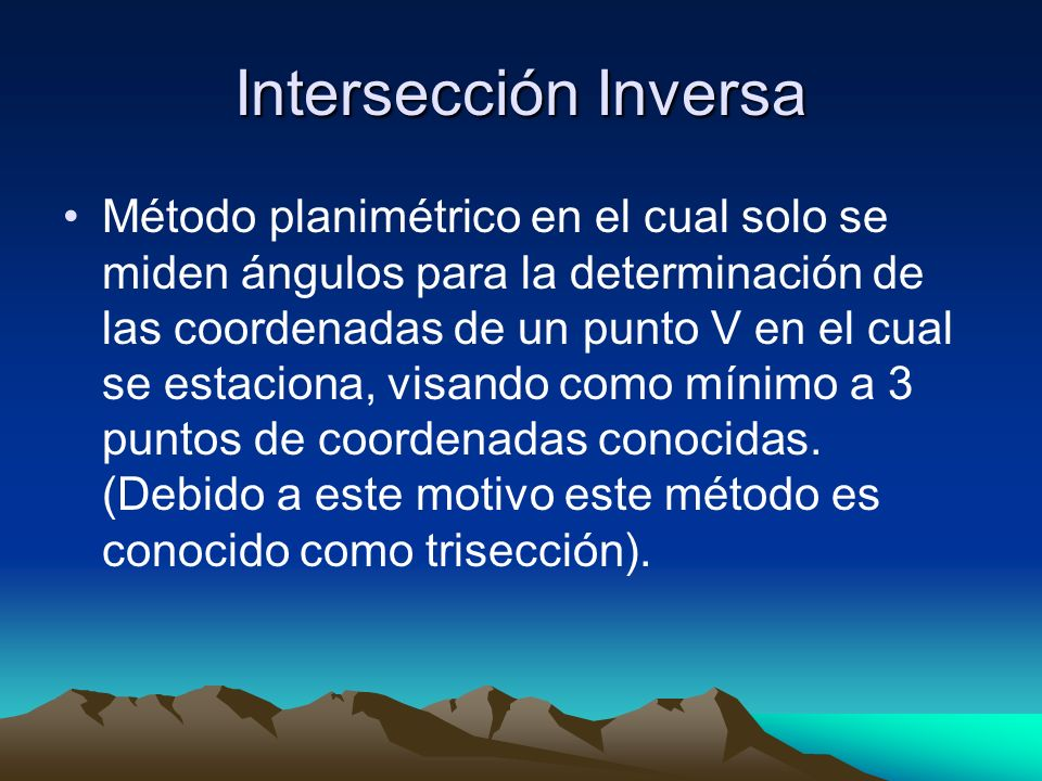 Intersección Inversa