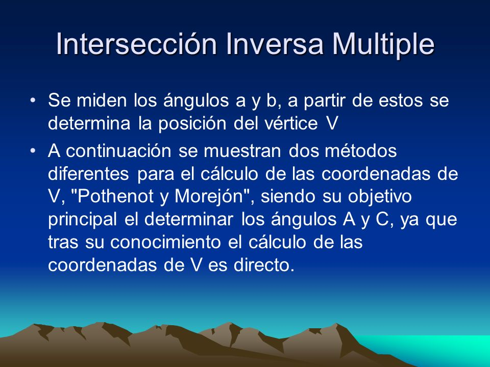Intersección Inversa Multiple