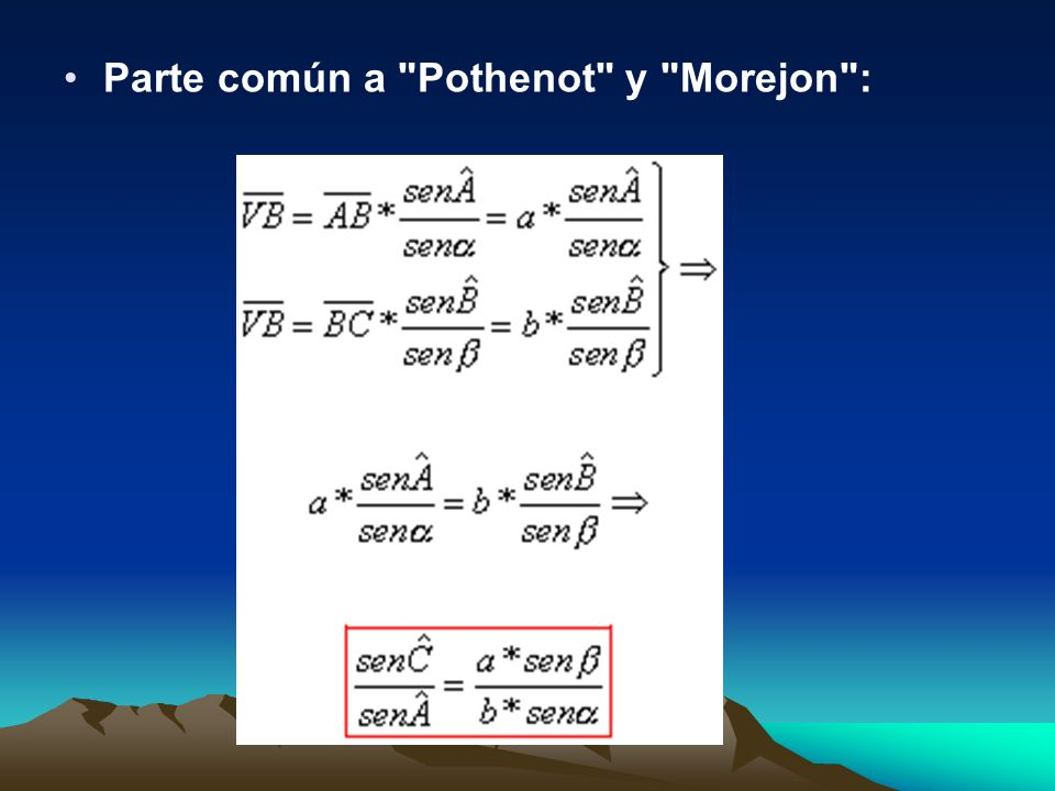 Parte común a Pothenot y Morejon :