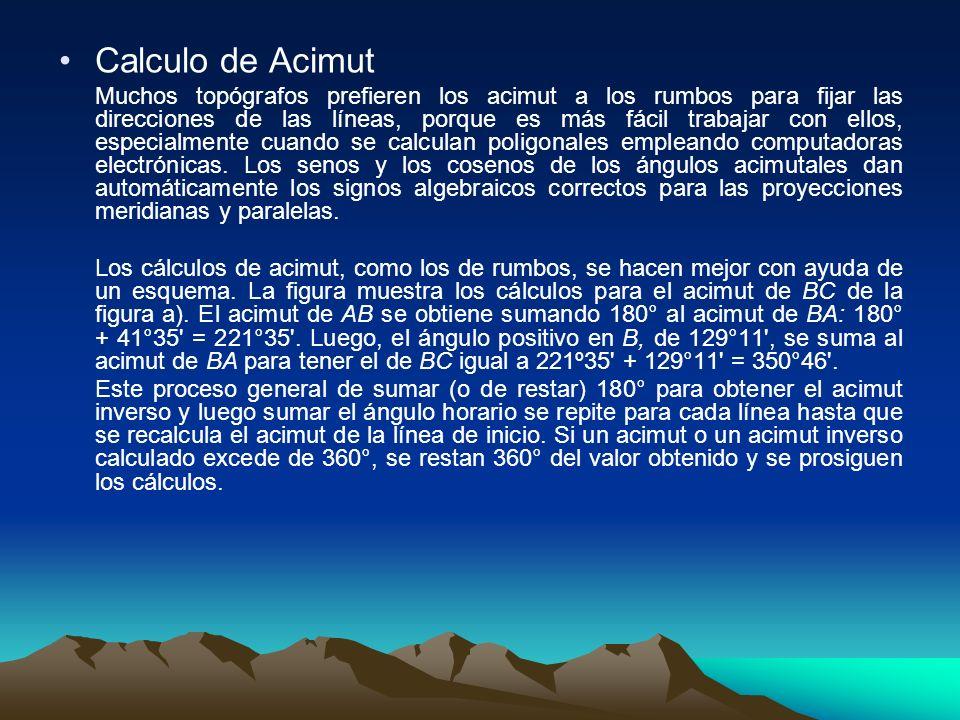 Calculo de Acimut