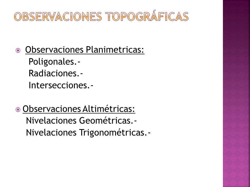 Observaciones topográficas