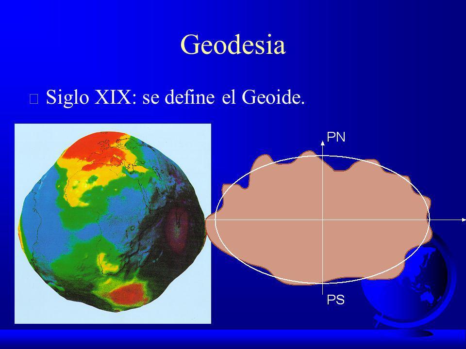 Geodesia Siglo XIX: se define el Geoide.