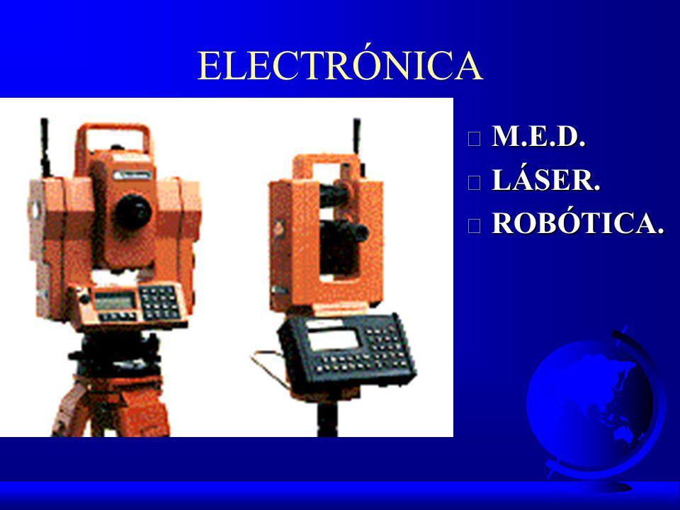 ELECTRÓNICA M.E.D. LÁSER. ROBÓTICA.