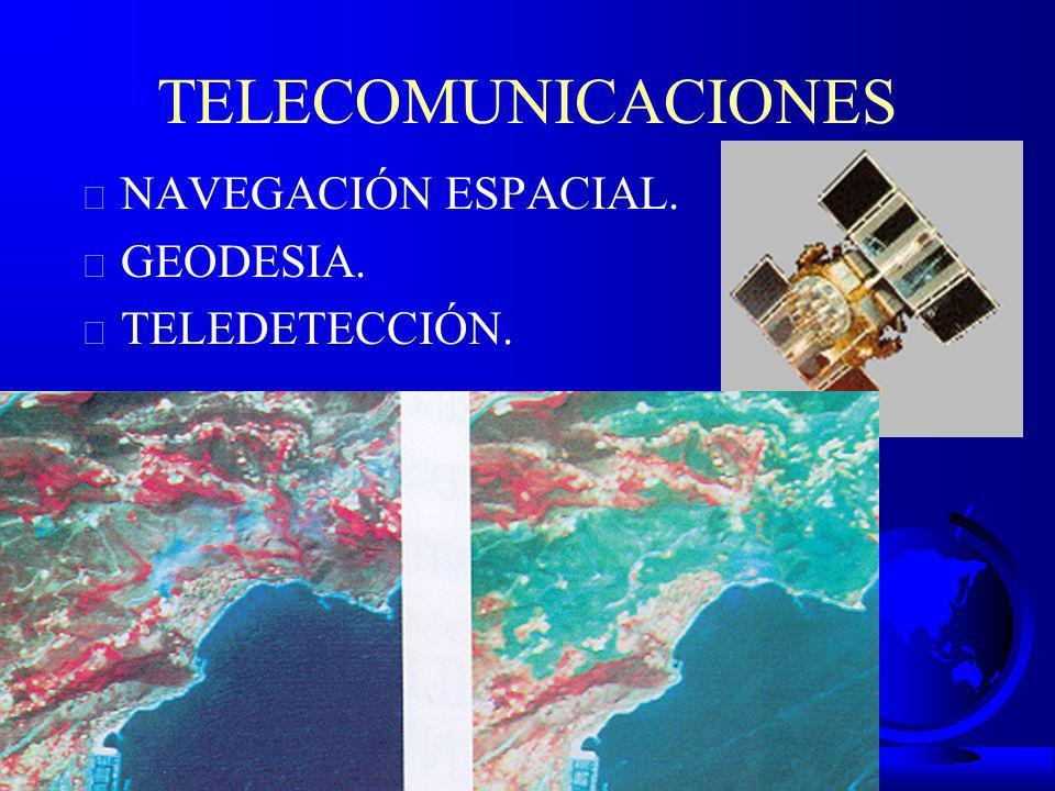 TELECOMUNICACIONES NAVEGACIÓN ESPACIAL. GEODESIA. TELEDETECCIÓN.