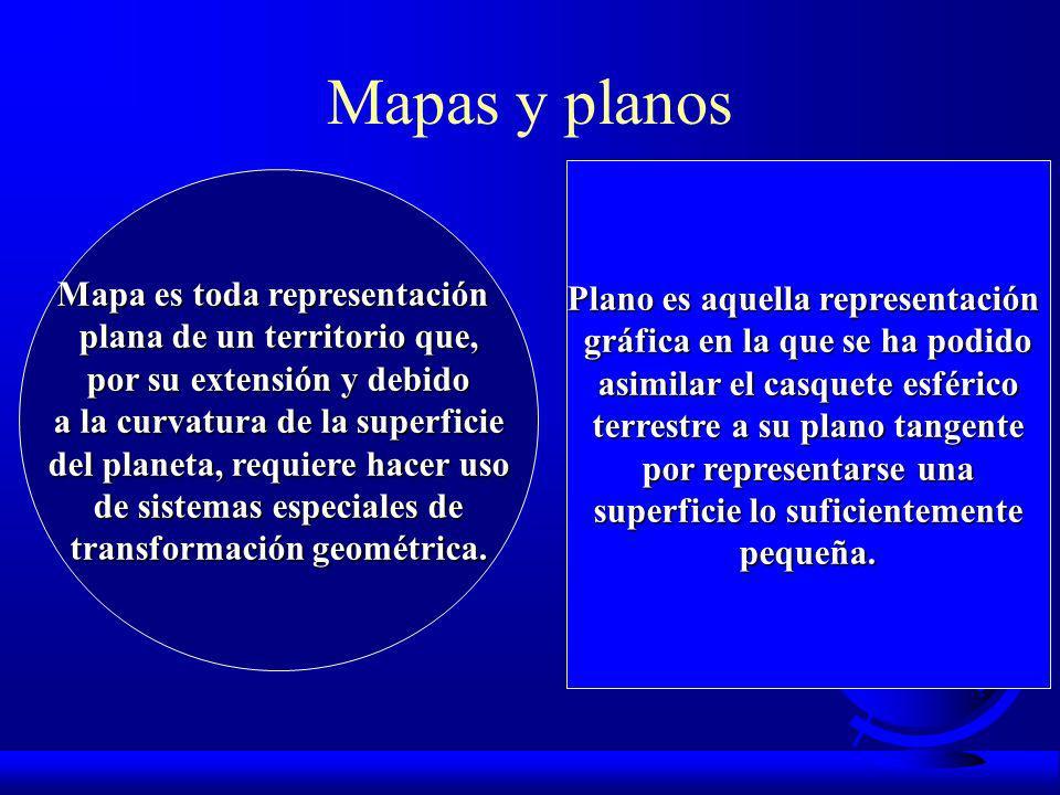 Mapas y planos Mapa es toda representación