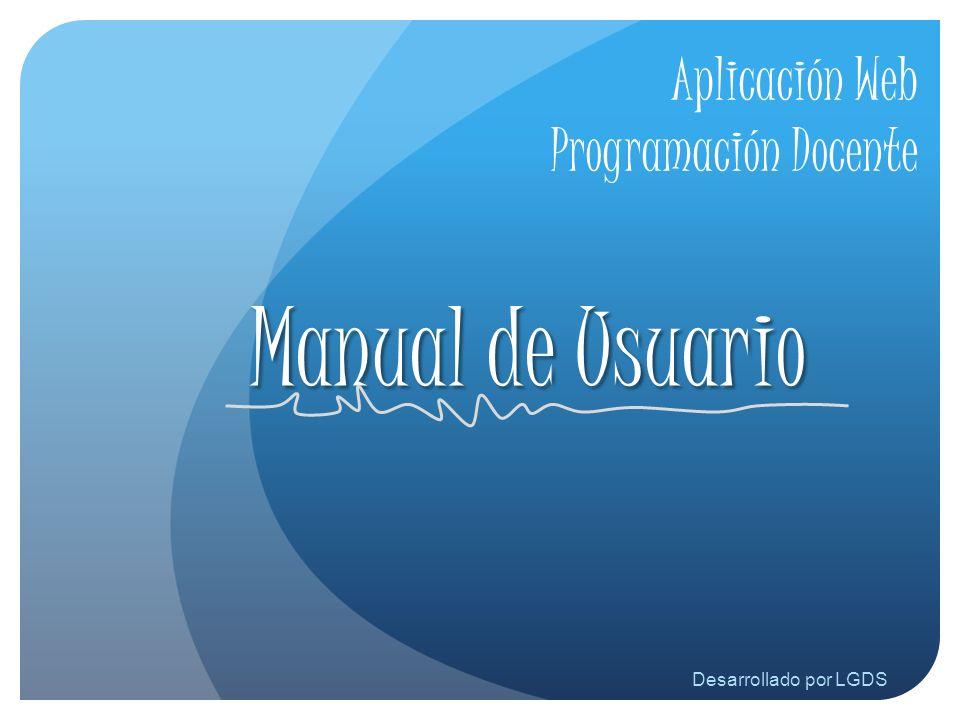 Aplicación Web Programación Docente