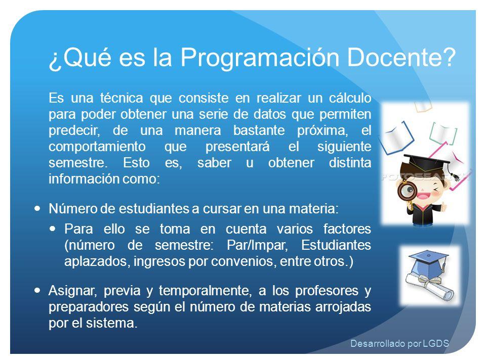 ¿Qué es la Programación Docente